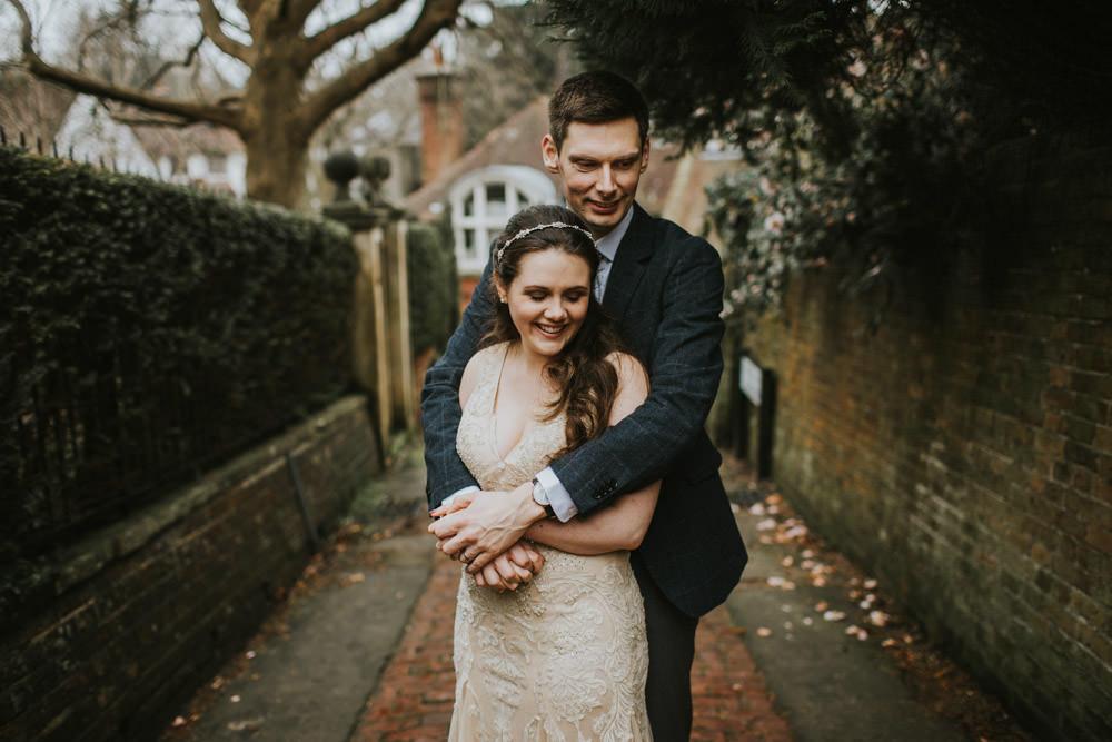 An intimate couple portrait in Tunbridge Wells