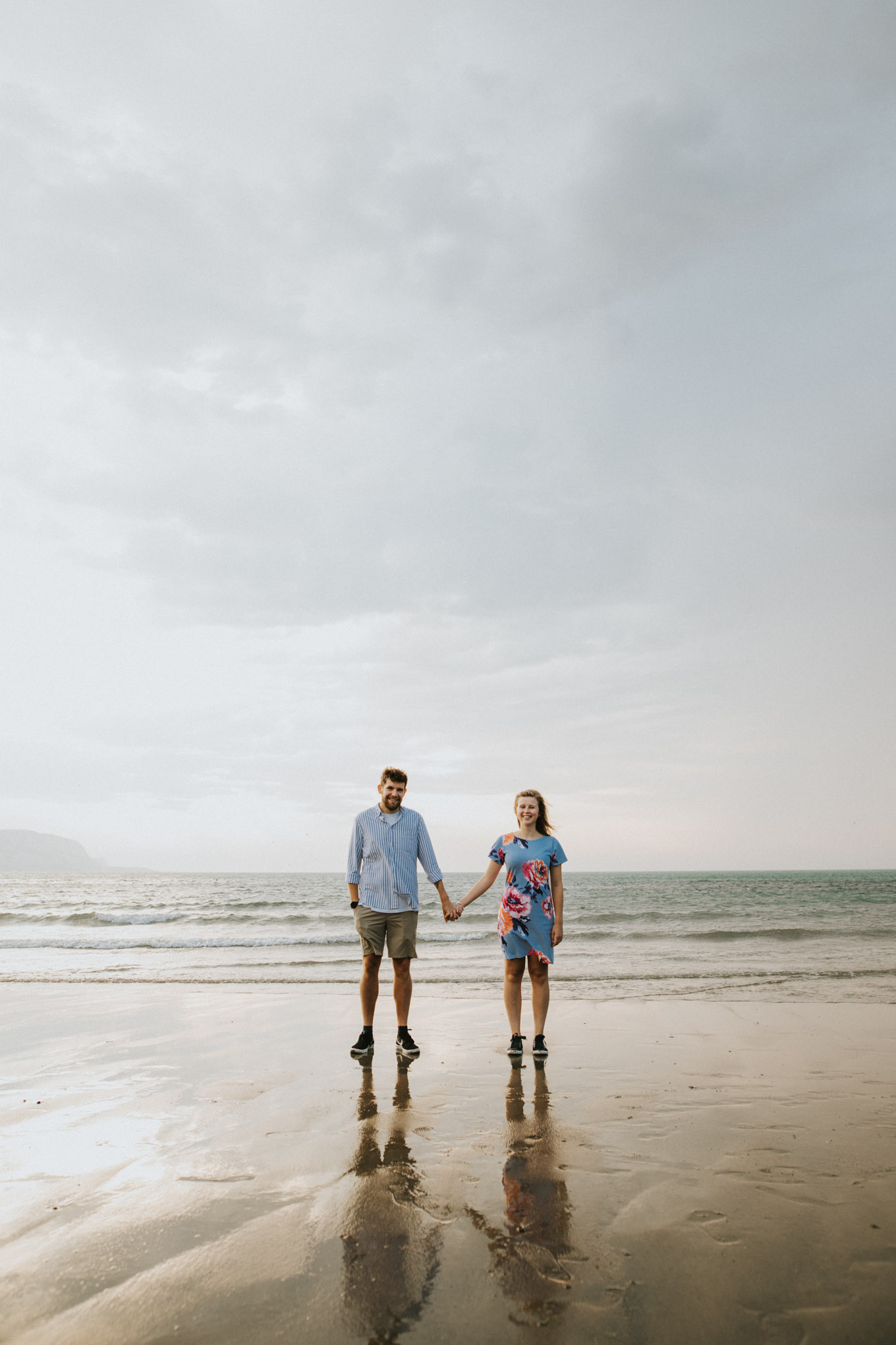 Beach pre-wedding photography