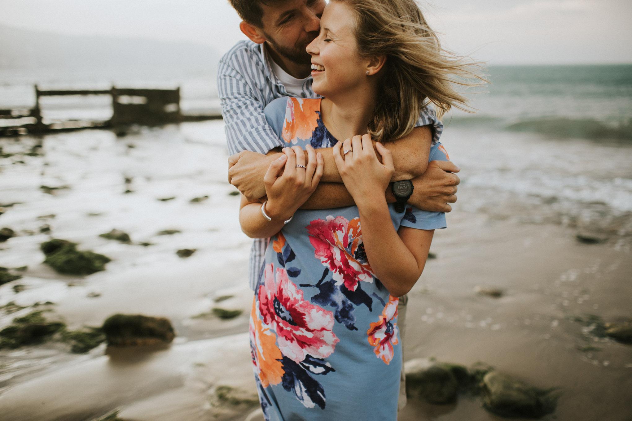 Beach pre-wedding photography
